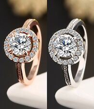 New Hearts & Arrows Micro Inlay Cut Cubic Zirconia Wedding/Engagement Rings