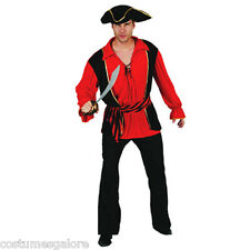 MENS Costume Fancy Dress Up SW Halloween Bucaneer Pirate Captain Size M,L,XL
