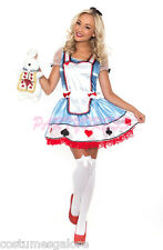 Ladies Costume Fancy Dress Up (163) Alice in Wonderland Fairy Tale Sz 8 10 12 14