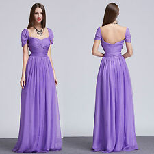Beautifly New Long Formal Evening gowns Chiffon Prom party ball dresses Size 16