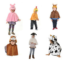 KIDS CHILDS GIRLS BOYS FARM ANIMAL BIRD FANCY DRESS UP CAPE COSTUME AGE 3-4-5-6