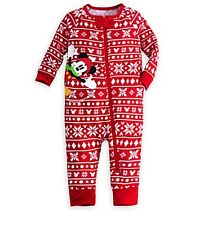 Disney Store Mickey Mouse Holiday Baby Pajamas Outfit sz 3 6 9 12 18 24 Months