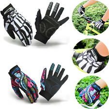 Skeleton Pattern Full Finger Gloves Warm Ski Bicycle Motorcycle Bike Sports