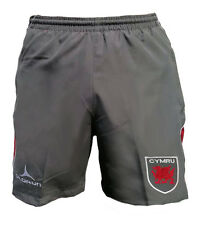 Olorun Wales Rugby Supporters Retro Leisure Shorts Grey/Red Size S-4XL