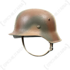WW2 GERMAN M42 Normandy Sandy Camouflage HELMET Repro Stalhelm-All Sizes