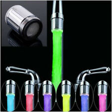 LED Water Faucet Stream Light 7 Colors Changing Glow Shower Stream Tap CA BO