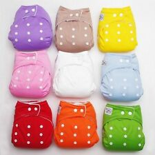 Diaper + Inserts Adjustable Reusable Lot Baby Washable Cloth Diaper Nappies New