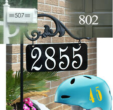 Numbers Vinyl Decals Helmet Sport House Door Car 0-9 Set of 10 Decor USA Seller