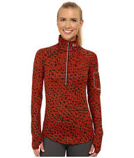 UNDER ARMOUR WOMENS UA ALLSEASONS FLY FAST 1/2 ZIP SHIRT ORANGE #1256229-NWT