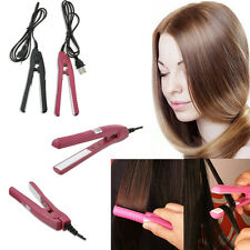 Hot Portable Women's Mini Ceramic Hair Straightener Curler Flat Iron Perm Splint