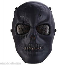 Skull Airsoft Paintball BB Gun Full Face Protection Mask Shot Helmets