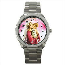 NEW Wrist Watch Stainless Holy Mary Child Jesus Christ Love Catholic