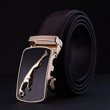 New Fashional Automatic Ratchet Buckle Mens Waist Strap Genuine Leather Belts