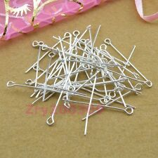 Silver Plated Eye Pins Connectors 20mm,30mm,40mm,DIY Findings R0018