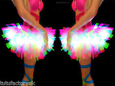 POOFY STICK OUT TUTU CLUBWEAR NEON TUTU LIGHT UP TUTUS HEN PARTY BRIDE RAVE TUTU