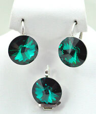 HIT *RIVOLI* 14 mm 42 COLORS - Sterling Silver 925 SET with SWAROVSKI ELEMENTS