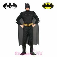 Mens Licensed Deluxe Muscle Chest Batman Costume Adults Dark Knight Halloween