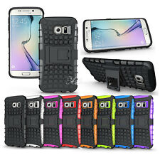 Hybrid Hard & Soft Stand Hard Armor Case Cover For Samsung Galaxy Phone Shell