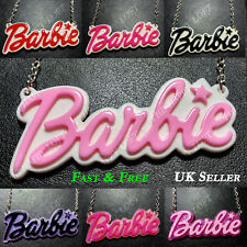 Funky BARBIE Statement Large Name Necklace Kawaii Rockabilly Cute Kitsch Emo