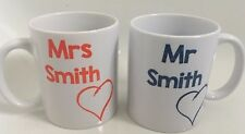 Personlised Mr and Mrs 11oz Mugs