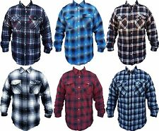 Mens Flannel Plaid Jacket Heavyweight Inside Thermal Lining Free Shipping