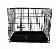 "From 24"" to 48"" Pet Dog Cage Collapsible Metal Crate Kennel Cat Rabbit Folding"