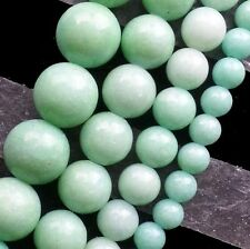 6/8/10/12mm Beautiful Green Jade Round Ball Loose Bead 15.5 inch XLZ-514