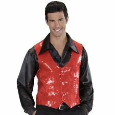 Waistcoat Vest Waiscoat Gilet Sequin Sequin Red Rosso Fashion Leisure