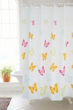 """71"""" Polyester Waterproof Butterfly White Bath Shower Curtain Hooks Home Decor"""