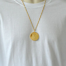 $50 American Liberty Lady 24k Gold Plated Coin Necklace Pendant Mens Necklaces