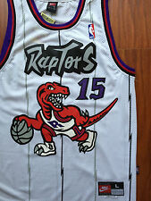 NBA Toronto Raptors Vince Carter Throwback Sewn/Stitched WHITE Jersey NWT