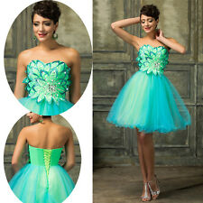 Girls Tulle Beading Short Mini Homecoming Dress Prom Gown Cocktail Party Dress