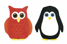 GIRLS BOYS HOT WATER BOTTLE FUN OWL PENGUIN WITH SOFT KNIT COVER WARM COSY GIFT
