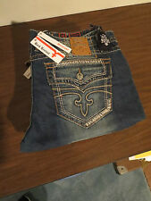 ROCK REVIVAL ANTHONY Denim Jeans Straight Leg  *NWT* & Spare Button