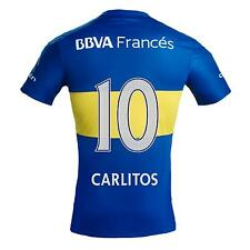 Boca Juniors Carlitos Tevez 10 2016 Home Soccer Jersey Shirt Authentic Argentina