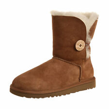 Ugg Australia Womens Bailey Button Boots Twinface Sheepskin 5803 Chestnut