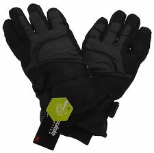 Athletech Mens Black Gray Ski Gloves 3M Thinsulate Insulation Waterproof M L XL
