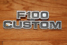 F100 CUSTOM FORD PICKUP TRUCK EMBLEM BADGE SCRIPT TRIM NOS OEM