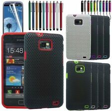 Hybrid Mesh Net Perforated Silicone Skin Case Cover For Samsung Galaxy S2 i9100