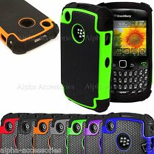 Shock Proof Dual Silicone & Hard Defender Case Cover BlackBerry 8520, 9300 Curve
