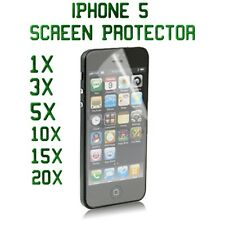 Crystal Clear Film Guard LCD Screen Protector Lot For Apple iPhone 5S / 5