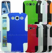 Hard Mesh Net Perforated Silicone Skin Case Cover 4 Samsung Galaxy S3 SIII i9300