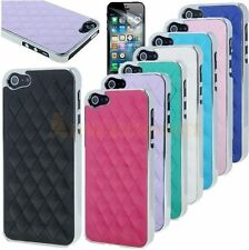 Chrome Design Diamond Pattern Leather Case Cover Skin For New iPhone 5, 5S + PRO
