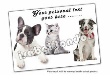 Personalised Dog  Mouse mat Mouse Pad.Can add&Edit any Text. ILVM-1004 -3 Design