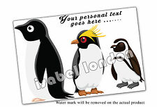 Personalised Penguin Mouse mat Mouse Pad.Can add & Edit any Text. ILVM - 1005