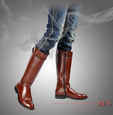 2016 PUNK Rock-TOP COOL # MEN High Knee Equestrian Cowboy Riding Army long boot