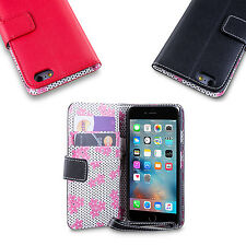 iDefend Floral PU Leather Wallet Case Cover + Protector For Apple iPhone Models