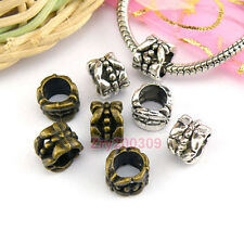 35Pcs Tibetan Silver,Bronze Barrel Spacer Beads Fit Charm Bracelet 6.5x8mm M1661