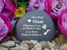 Memorial Pebble (Stone Effect) Personalised-Weatherproof-Mother's Day - Rose(FS)