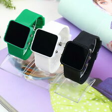 Multicolor Men women LED Silicone Band Digital Sport Wrist Watch SA BN